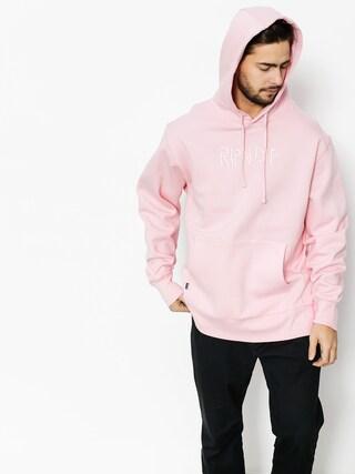 Mikina s kapucí RipNDip Logo Embroidered HD (pink)