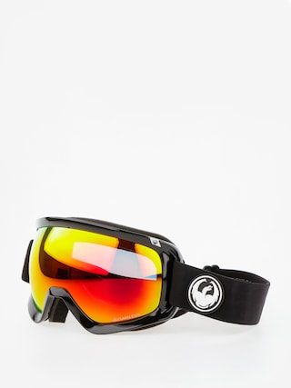 Bru00fdle na snowboard Dragon D3 (black/lumalens red ion/l rose)