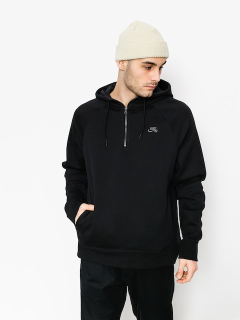 Mikina s kapucí Nike SB Hoodie Icon Hz HD (black/dark grey)