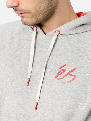 Es Mikina s kapucí Script HD (grey/heather)