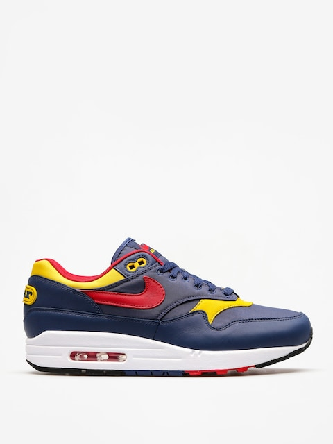Boty Nike Air Max 1 Premium (navy/gym red vivid sulfur white)