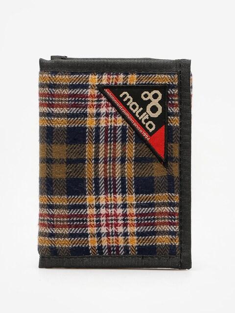 Peněženka Malita Blanket 1 (green/navy/yellow)