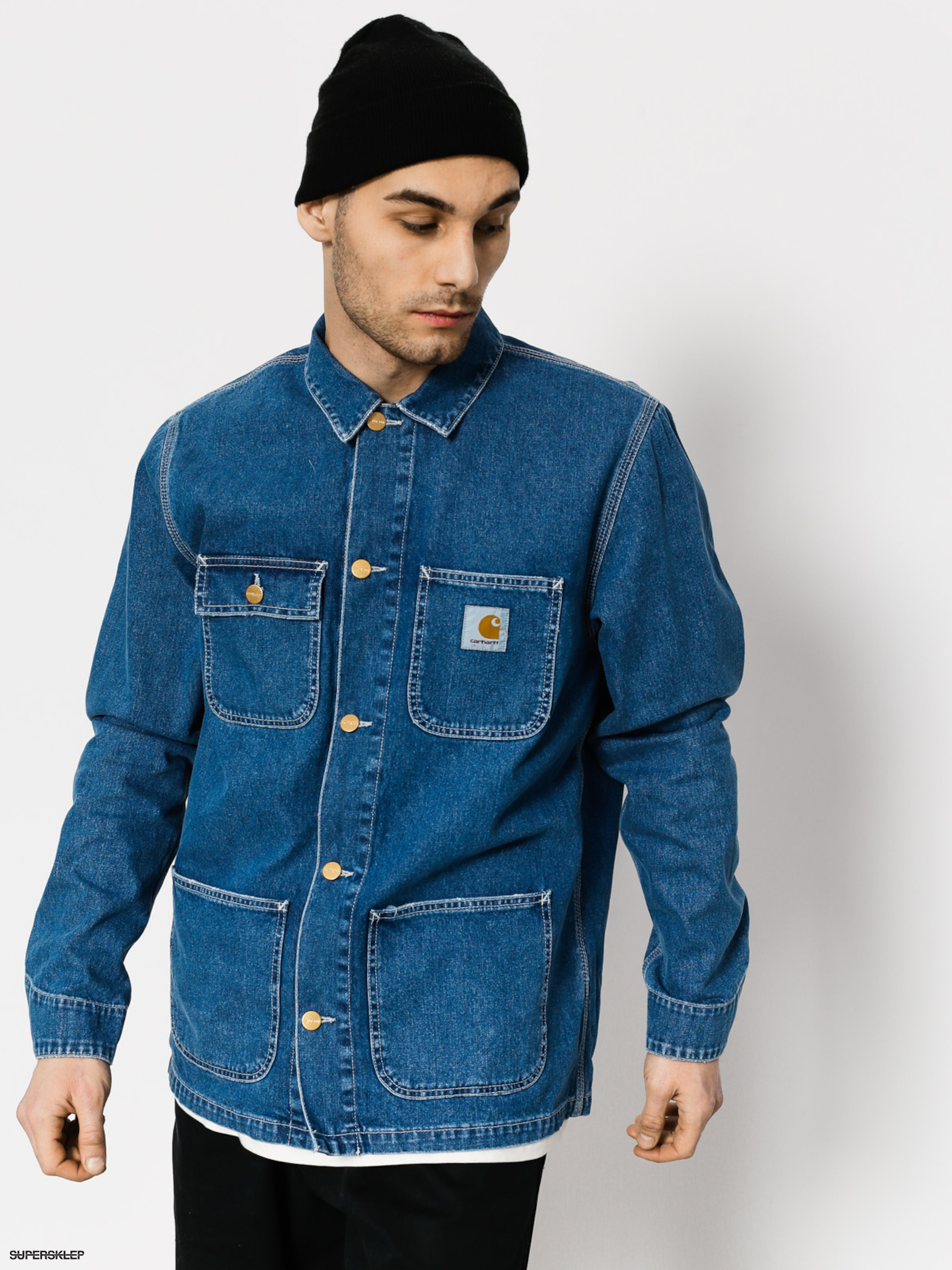 Bunda Carhartt Michigan Chore Coat (blue stone washed)