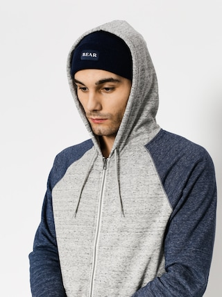 Mikina s kapucí Element Meridian Block ZHD (grey heather)