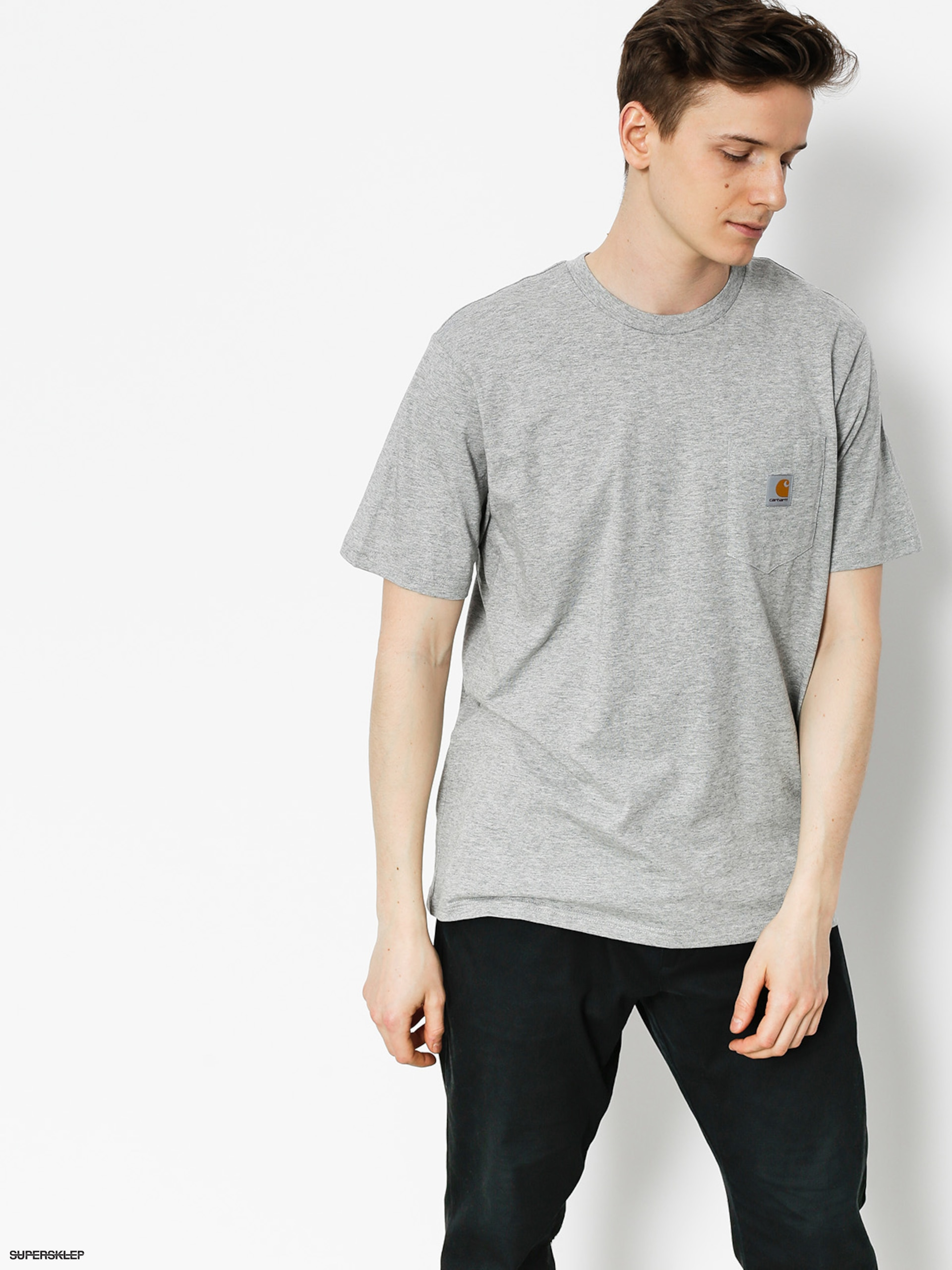 Tričko Carhartt Pocket (grey heather)