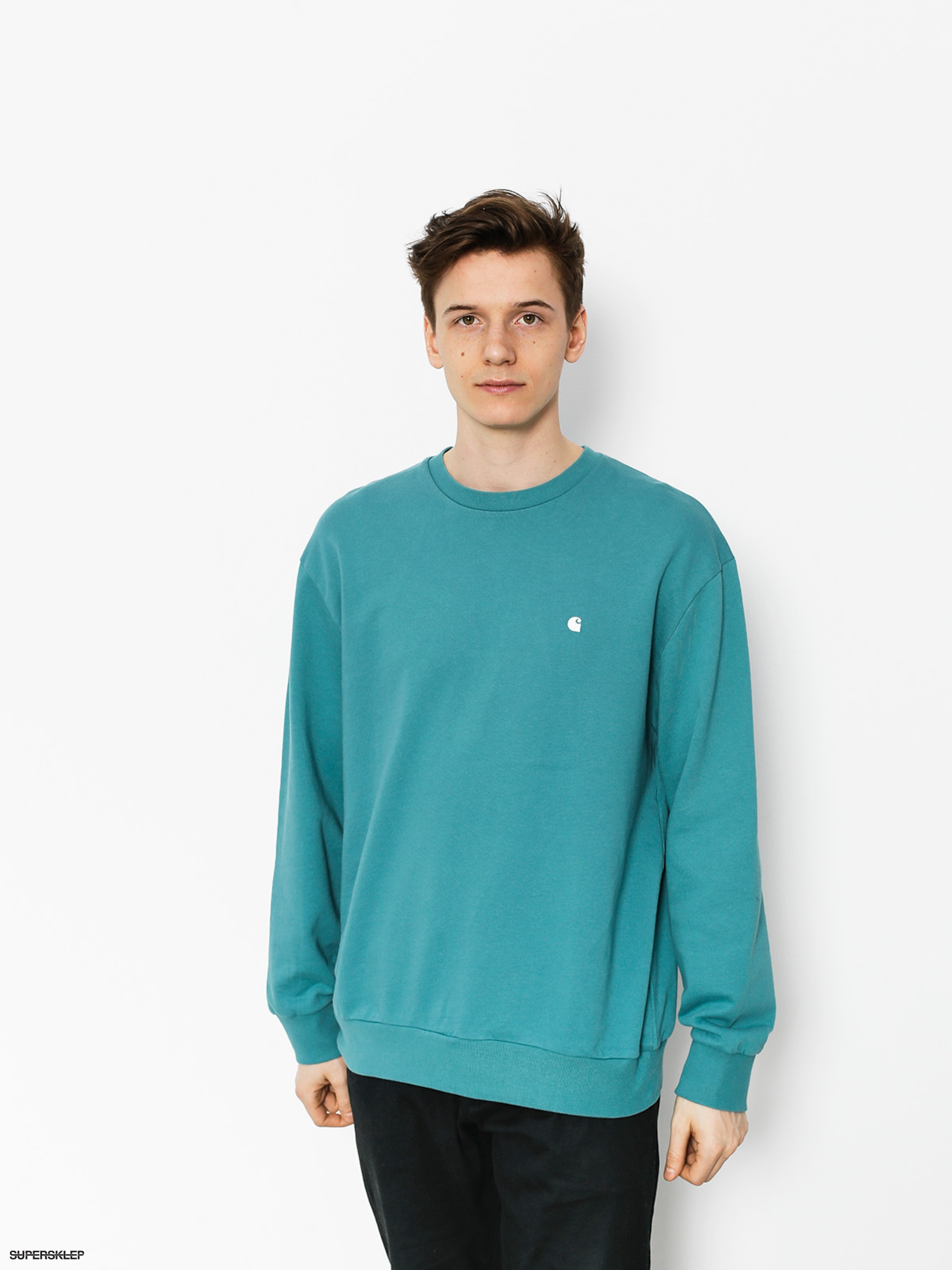 Mikina Carhartt Madison (soft teal/white)
