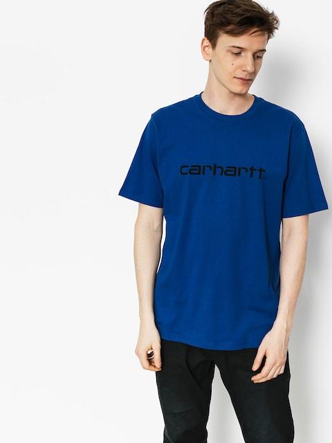 Tričko Carhartt Script (sapphire/black)