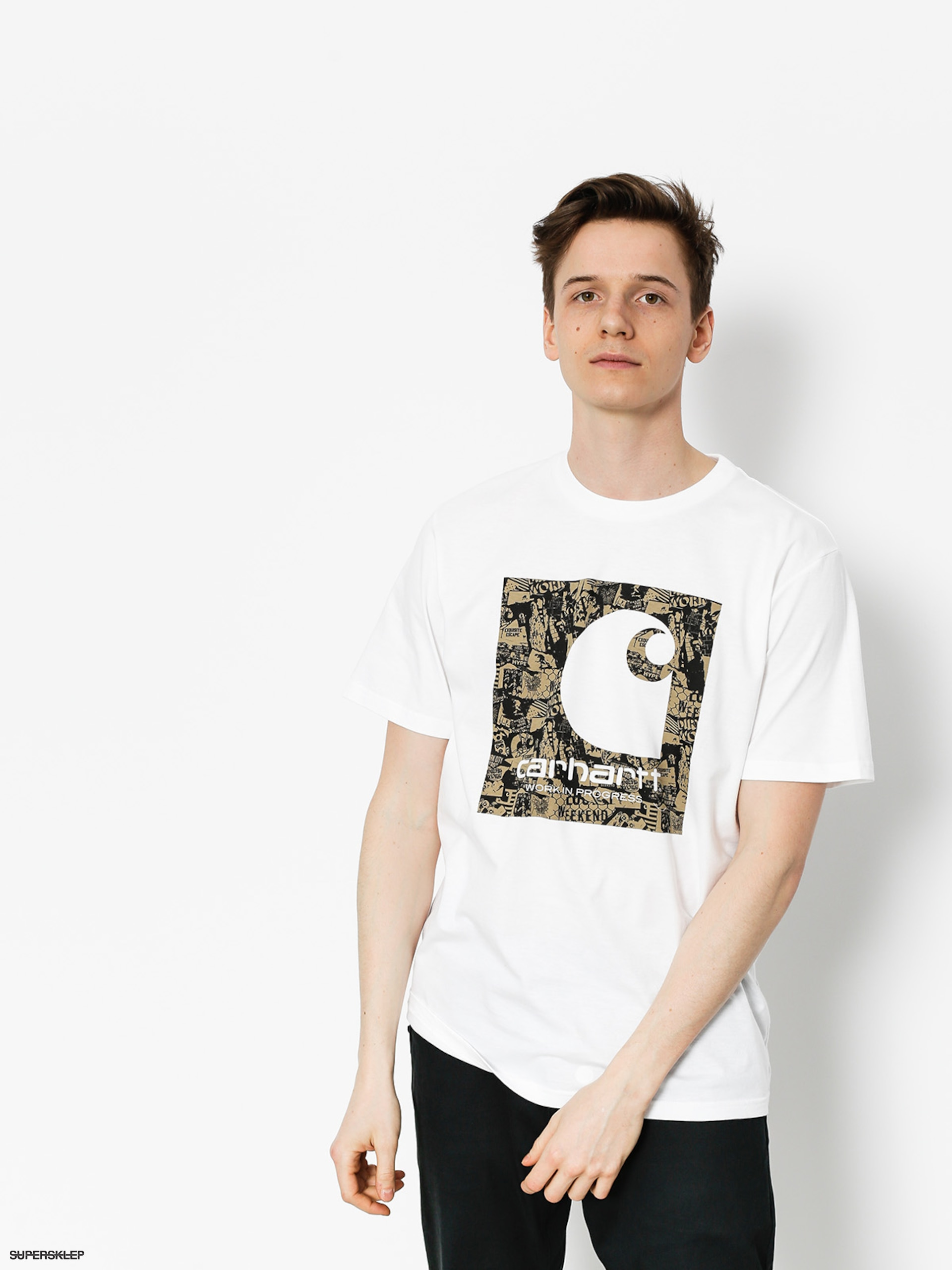 Tričko Carhartt C Collage (white)