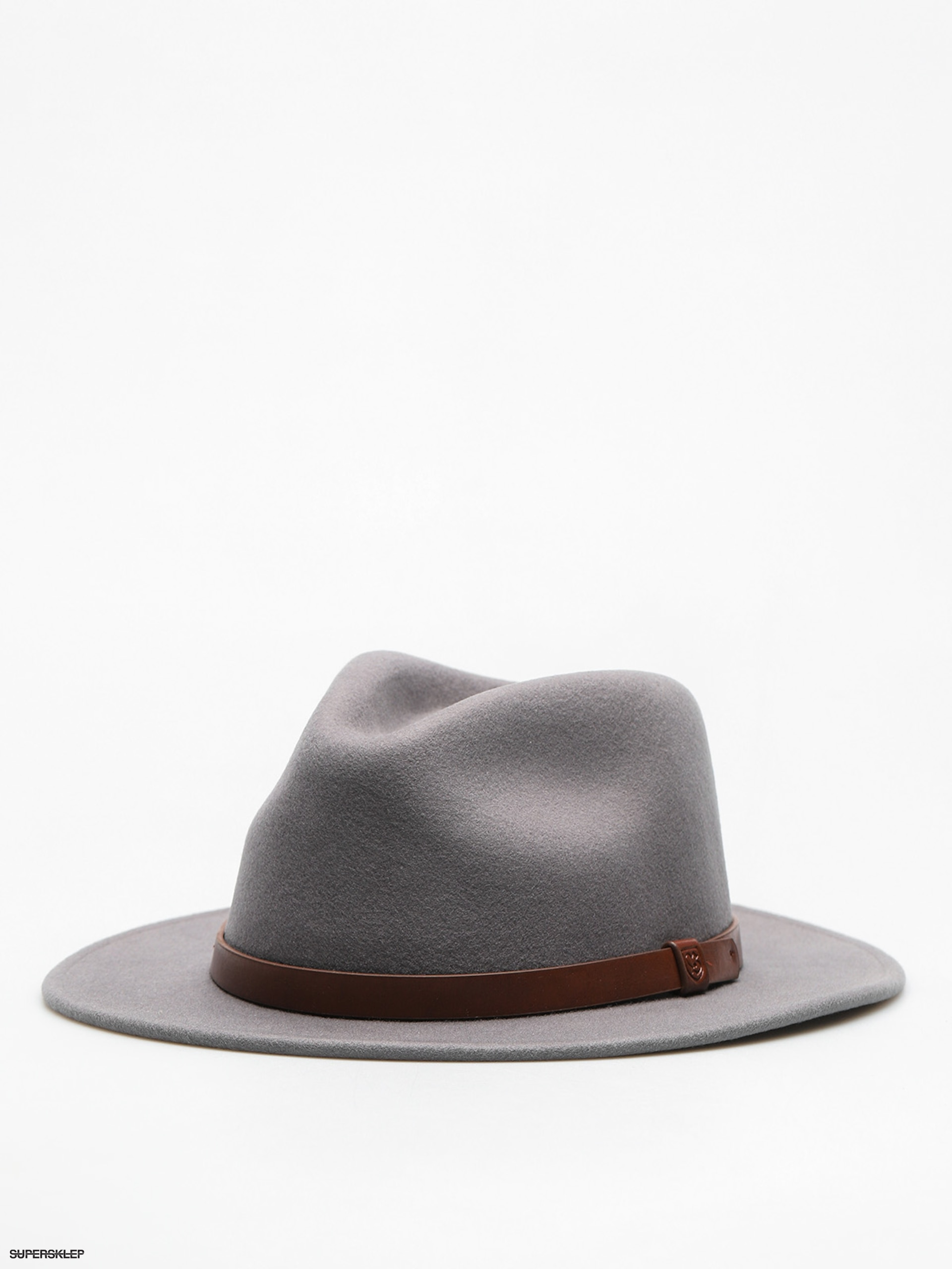 Klobouk Brixton Messer Fedora (light grey/brown)