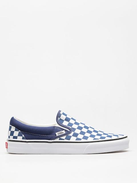 Boty Vans Classic Slip On (checkerboard/estate/blue/true/white)