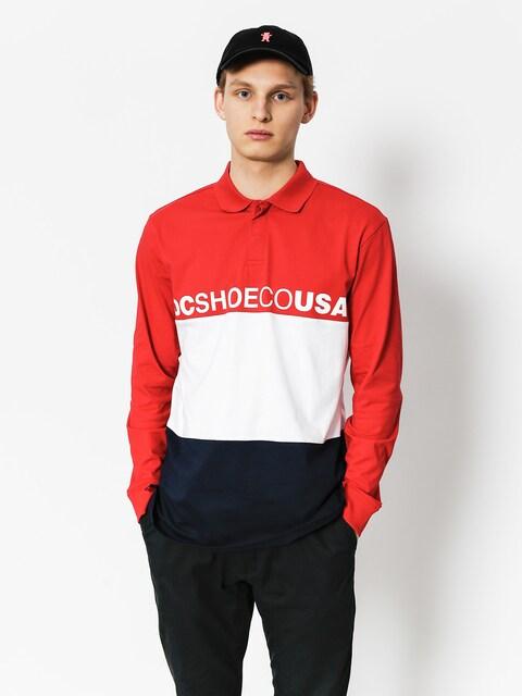 Polo tričko DC Stewardson LS (tango red)