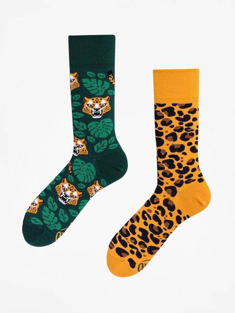 Ponožky Many Mornings El Leopardo (green/yellow)