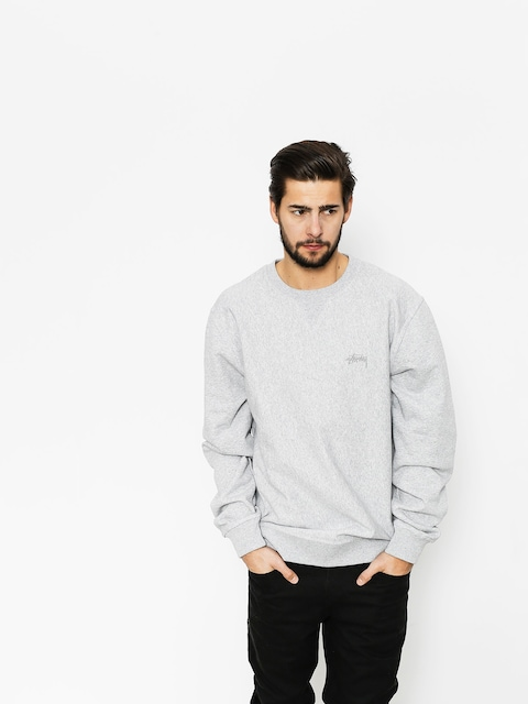 Mikina Stussy Stock LS Terry (grey heather)
