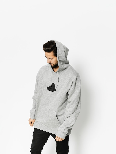 Mikina s kapucí XLARGE Old Og HD (grey heather)