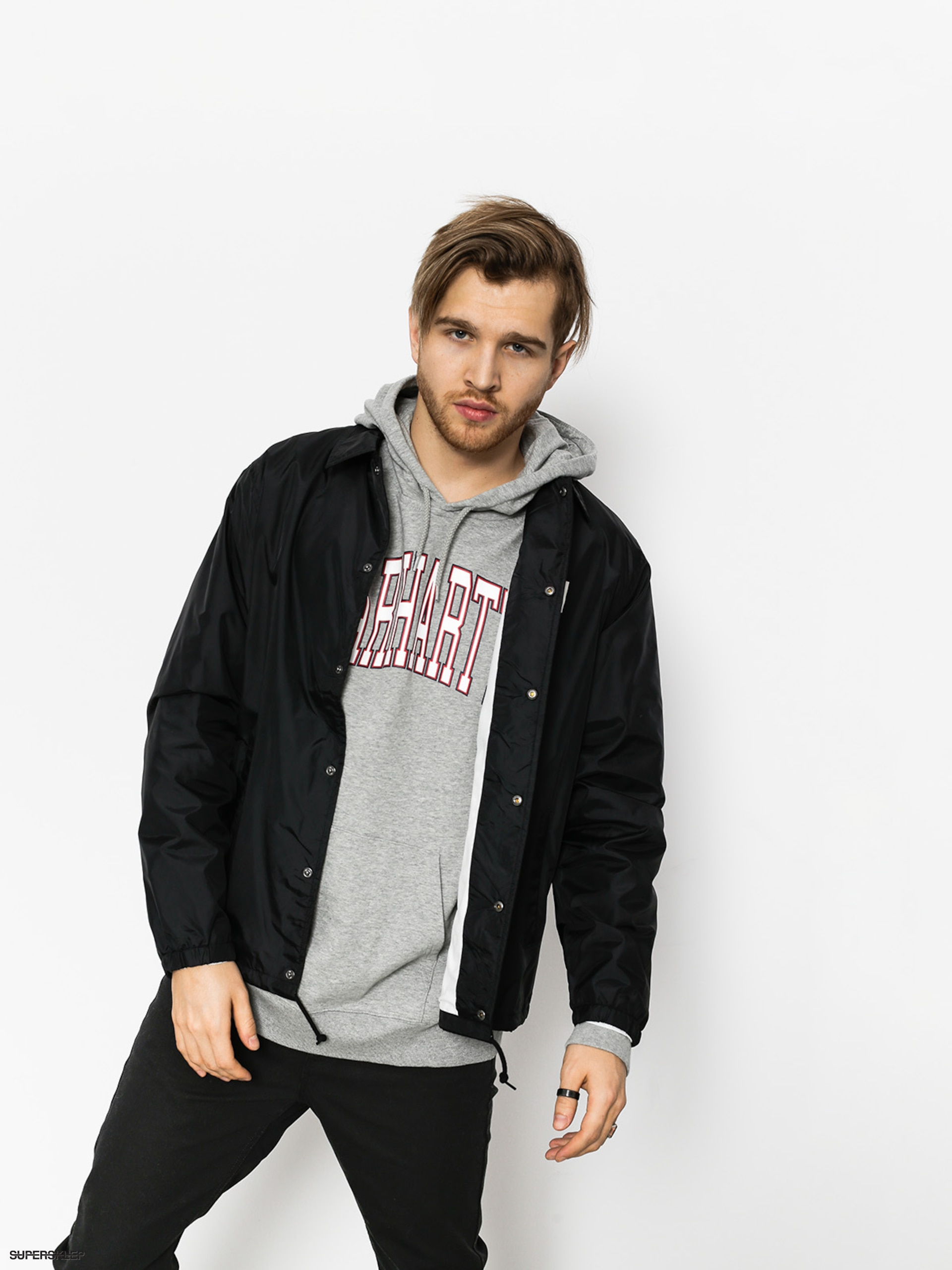 Bunda Carhartt Sports Coach (black/wax)