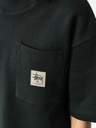 Tričko Stussy Juno Boxy Mock Neck Wmn (black)