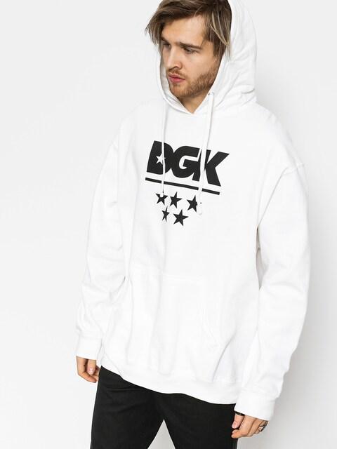 Mikina s kapucí DGK All Star HD (white)