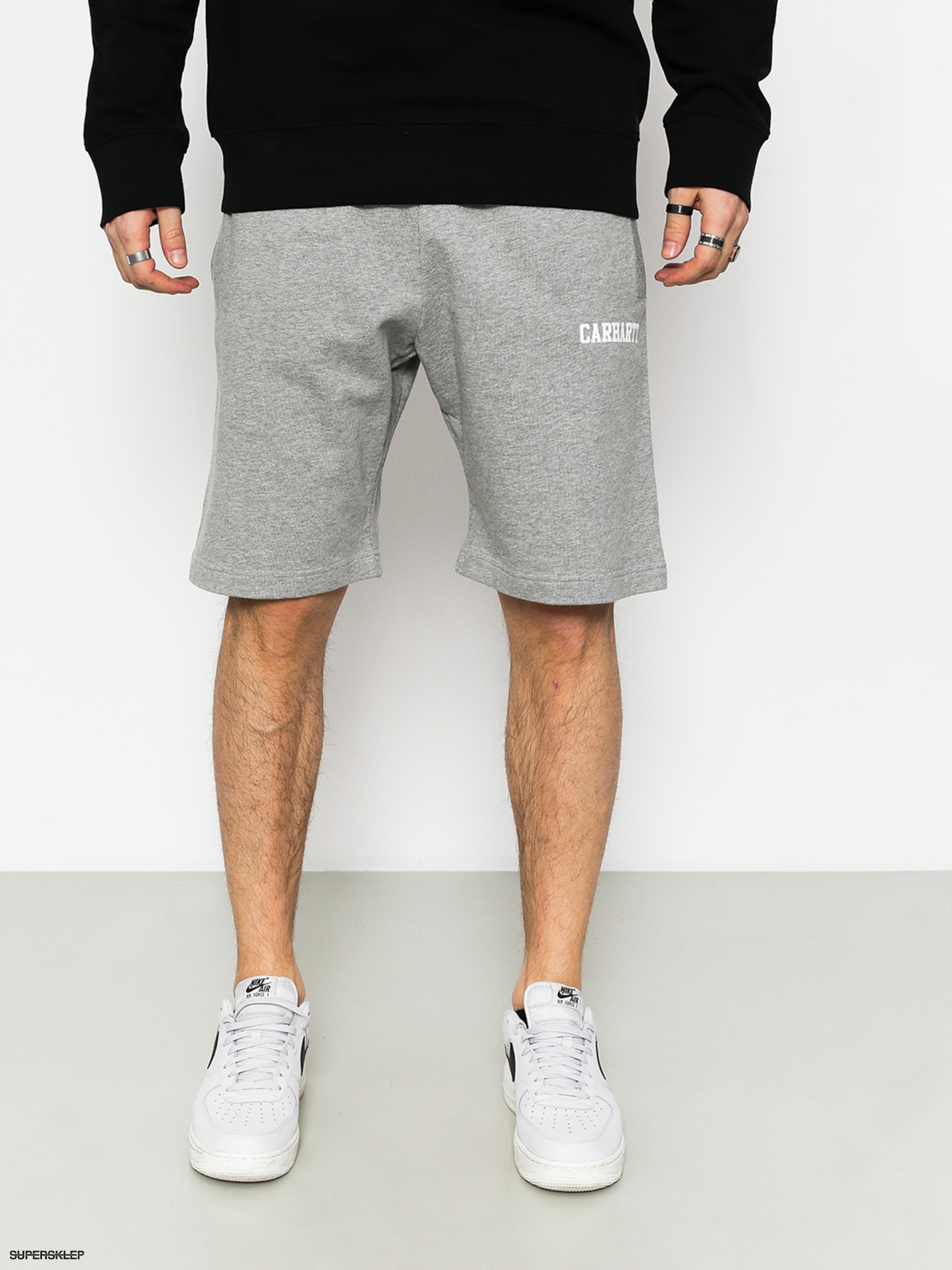 Kraťasy Carhartt College (grey heather/white)