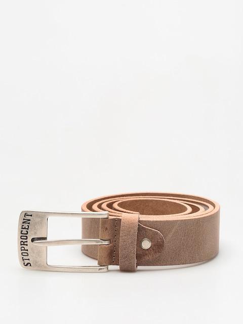 Pásek Stoprocent Texas (brown/silver)
