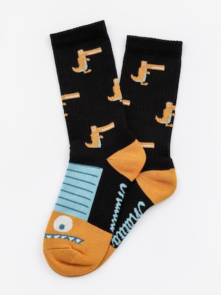 Ponožky Malita Crocodiles (black/gold)