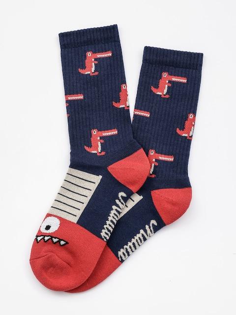 Ponožky Malita Crocodiles (navy/red)