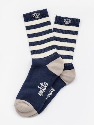 Ponožky Malita Wanted (white/navy)