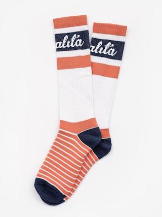 Ponožky Malita Logo Long (orange)