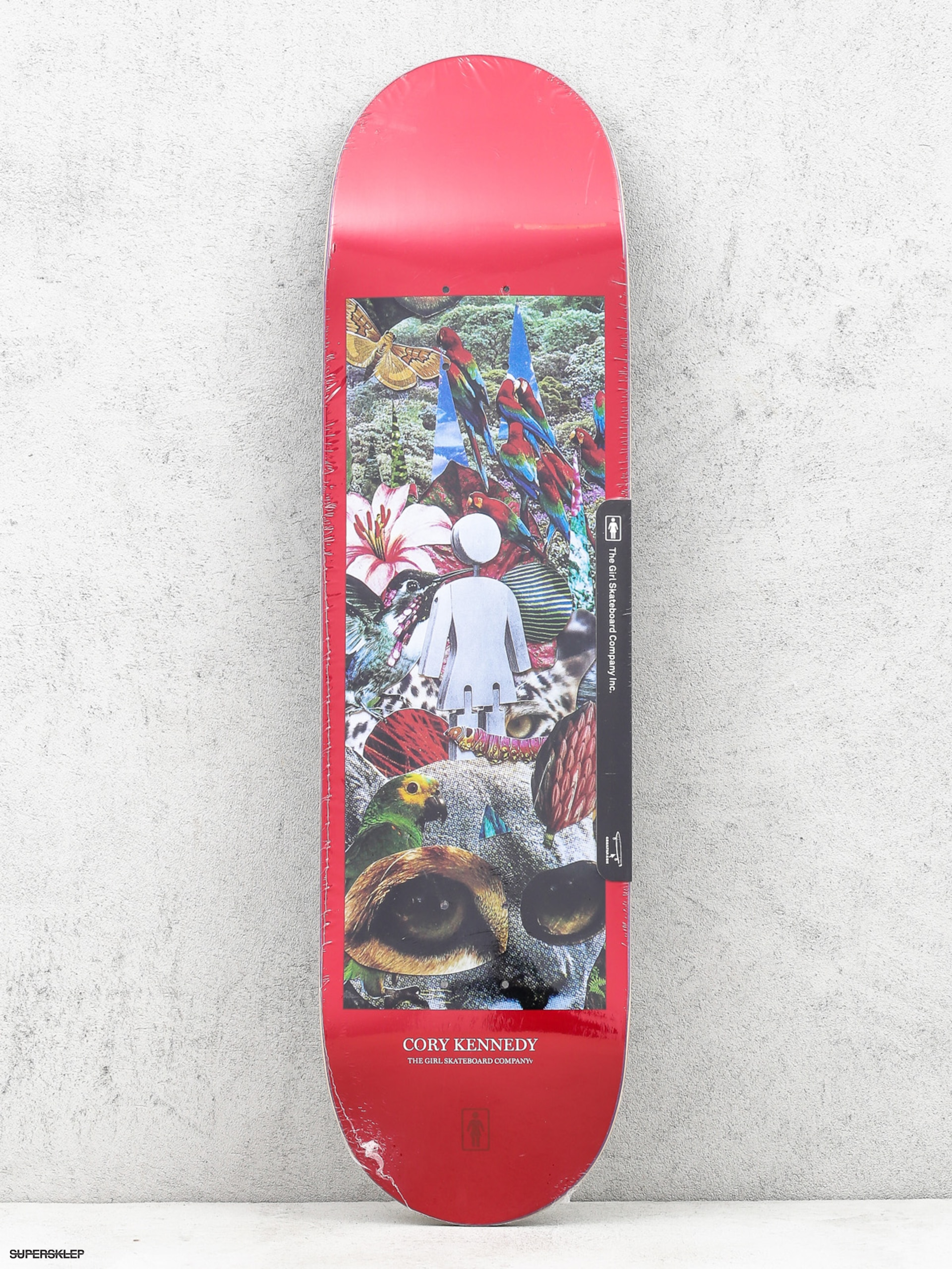 Deska Girl  Skateboard Kennedy Jungle (red)