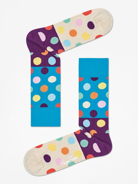 Ponožky Happy Socks Big Dot Block (green/purple/sand)