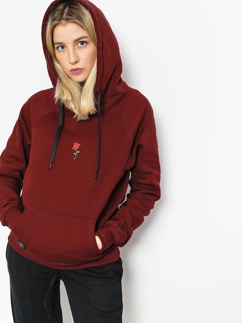 Mikina s kapucí Nervous Rose HD Wmn (maroon)