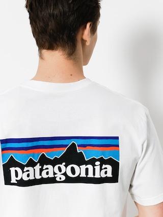 Tričko Patagonia P6 Logo Responsibili (white)