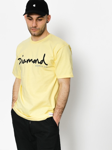 Tričko Diamond Supply Co. Og Script (banana)
