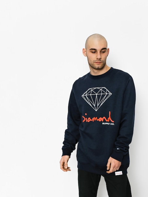 Mikina Diamond Supply Co. Og Sign (navy)