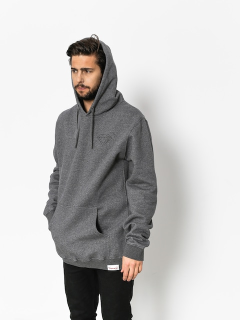 Mikina s kapucí Diamond Supply Co. Brilliant HD (gunmetal heather)