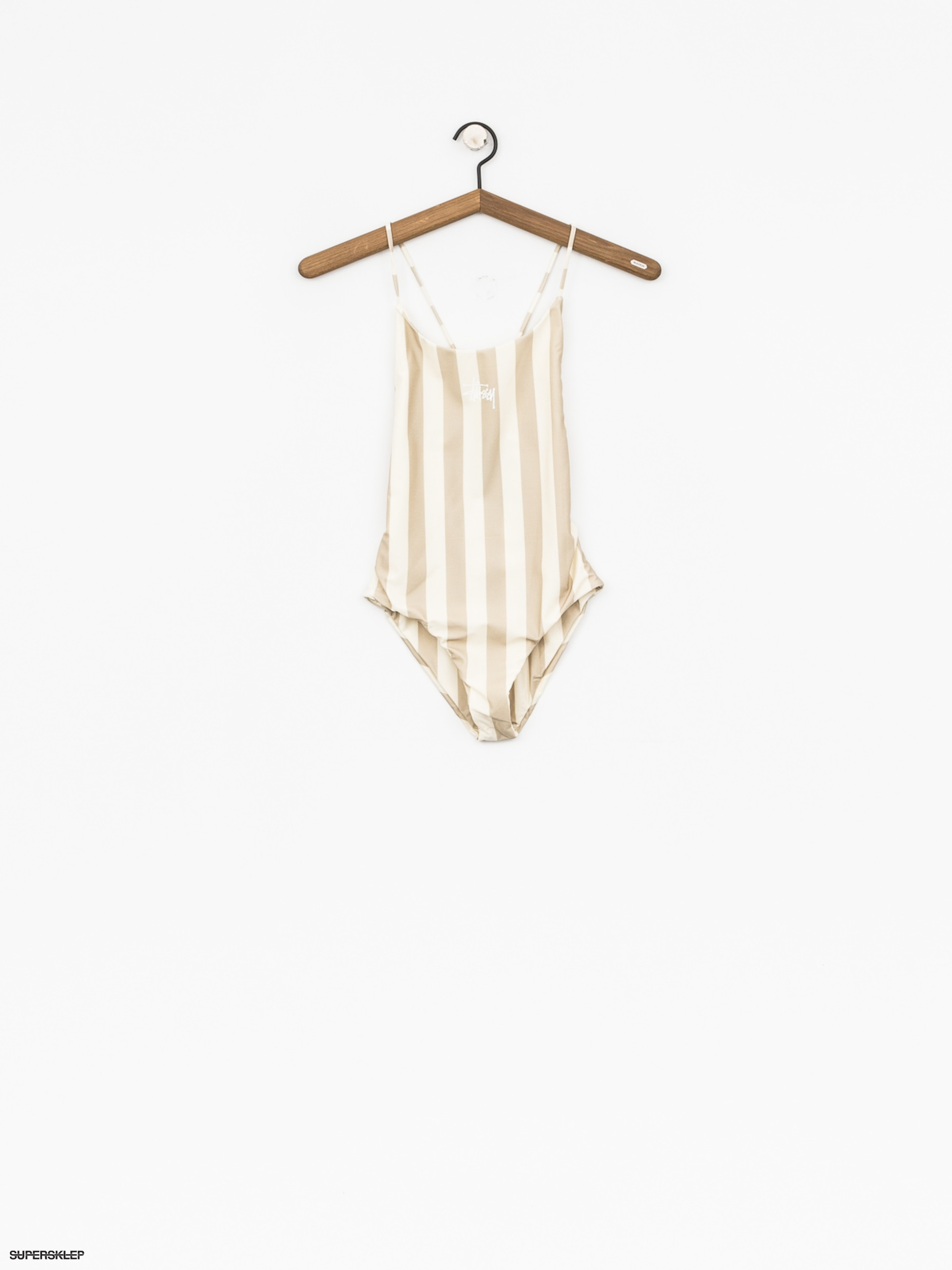 Plavky Stussy Carter Stripe One Pc Swim Suit Wmn (off white)