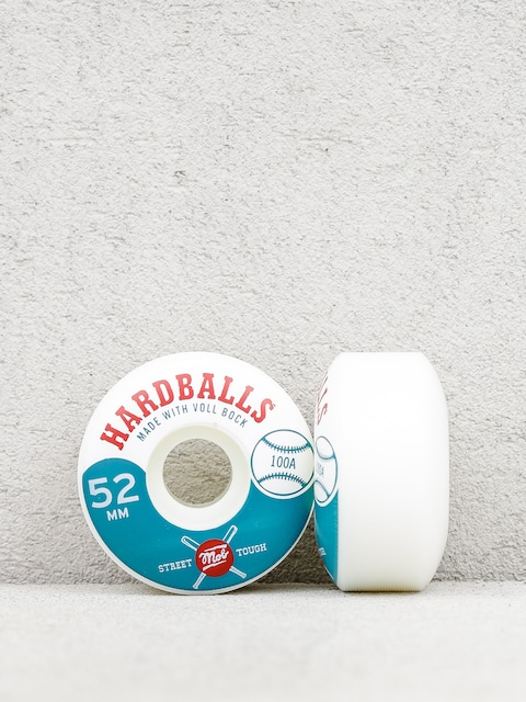 Kolečka Mob Skateboards Hardballs (white/teal)