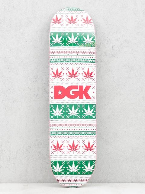 Deska DGK Pixel Logo (white/green/red)