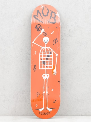 Deska Mob Skateboards Skeletown (red)