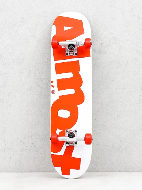 Skateboard Almost Side Pipe (white/red)