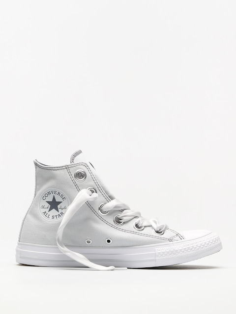 Tenisky Converse Chuck Taylor As Big Eyelets Hi Wmn (pure platinum/light carbon)
