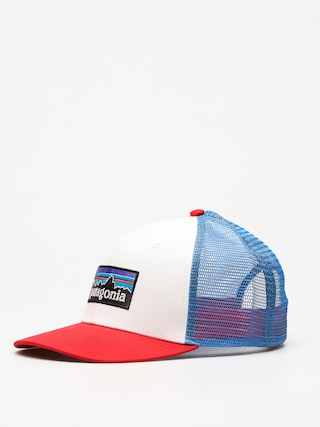 Ku0161iltovka  Patagonia P6 Logo Trucker ZD (white w/fire/andes blue)