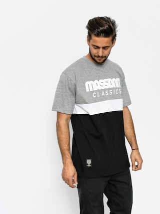 Tričko MassDnm Respect (light heather grey/black)