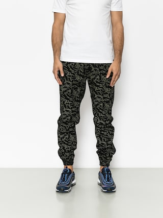 Kalhoty Diamante Wear Flight School Classic Jogger (yellow/camo)
