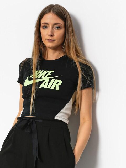 Tričko Nike Crop Qs Wmn (black/neutral olive/barley volt)