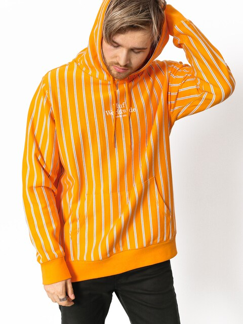 Mikina s kapucí HUF Sutter Stripe HD (cantaloupe)
