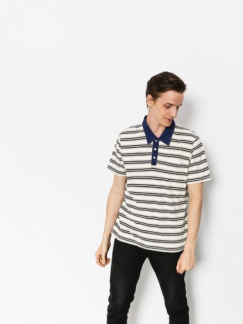 Polo tričko Brixton Murph (cream/navy)