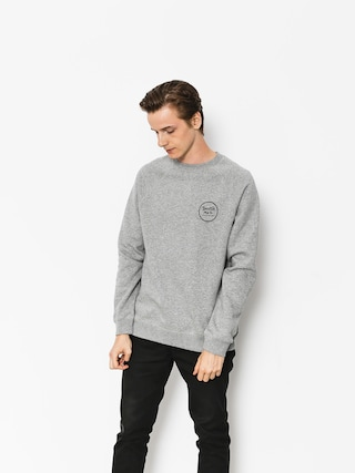 Mikina Brixton Wheeler III Eu Crew (heather grey)