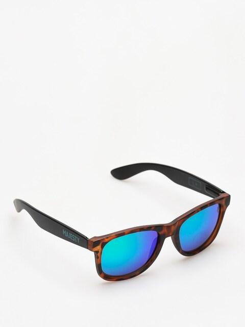 Sluneční brýle Majesty Shades L (tortoise/black green mirror lens)