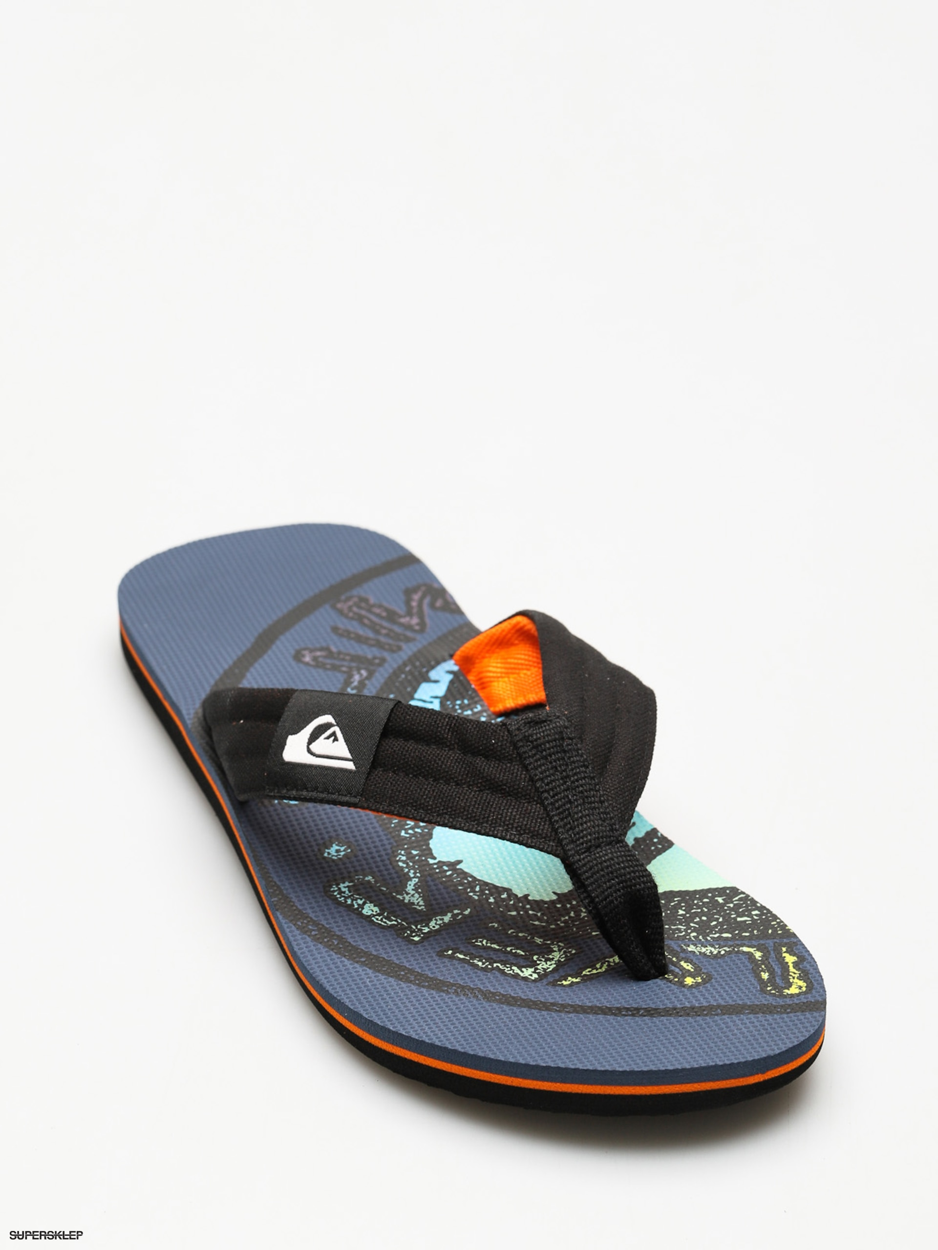 Plážovky Quiksilver Molokai Layback (black/orange/green)