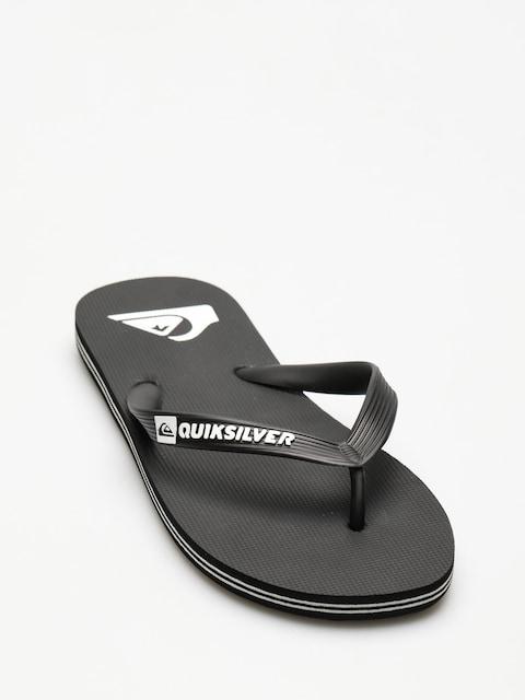 Plážovky Quiksilver Molokai (black/black/white)